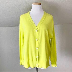 J. Crew Sunshine Yellow Button Down Sweater